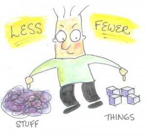 Less Stuff Fewer Things
